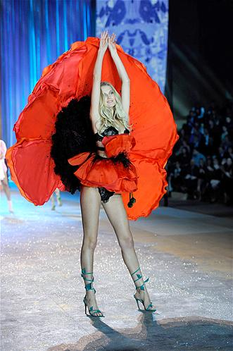 Model Toni Garrn walks the runway during the 2012 Victoria's Secret Fashion Show at the Lexington Avenue Armory.