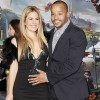 Scrubs actor Donald Faison looked thrilled with his wife Cacee Cobb's growing belly