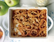 Jo Pratt's baked bramley apple and treacle roly-poly pudding
