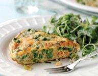 Mark Sargeant's smoked salmon and pea frittata