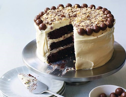 The Hummingbird Bakery's chocolate malt cake