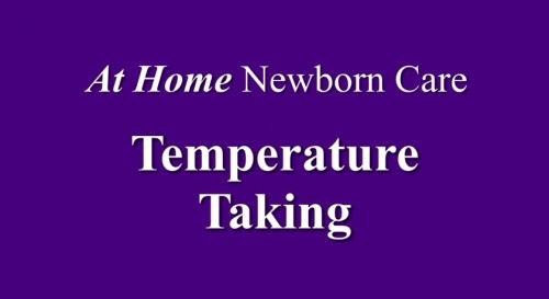How to Take Your Newborn's Temperature