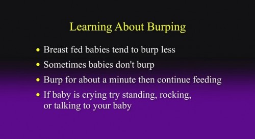 learning about burping