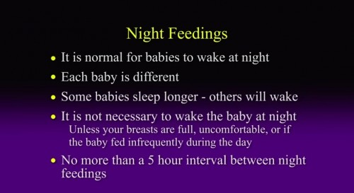 night feeding