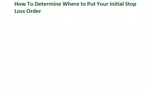 40. How To Determine Where to Put Your Initial Stop Loss Order