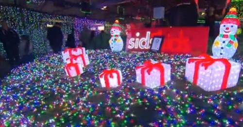 一百二十万颗LED制成2014年聖誕燈飾,刷新世界紀錄