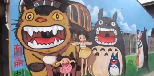 喵星人攻佔嘉義小村莊, 彩繪壁畫超吸睛