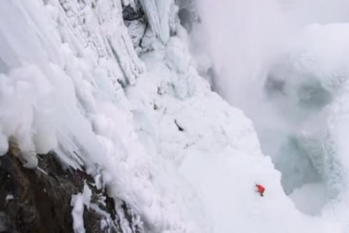 攀爬尼加拉冰瀑布 史上第一人成功