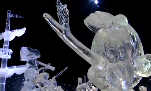 迪士尼卡通冰雕 比利時夢幻登場