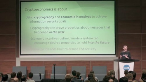 Vitalik Buterin – The Cryptoeconomics Way