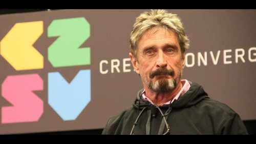 John McAfee $8000 Bitcoin is still affordable – BUY it