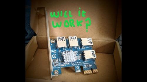 PCI e 1 to 4 adapter. 2 pci e slots & 4 Gtx 1060′s