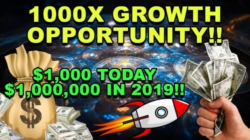 1000X OPPORTUNITY! – This CryptoCurrency Could 1000X by 2019