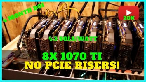 8x GPU Riser-less Mining Rig Build w/ 1070 TI