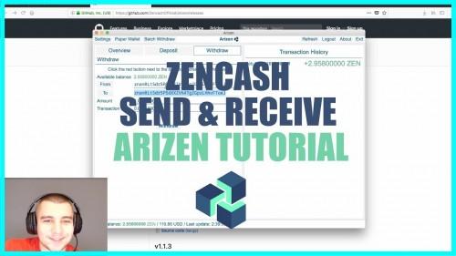 Arizen Wallet Tutorial – How to Send & Receive ZenCash + No Blockchain Download