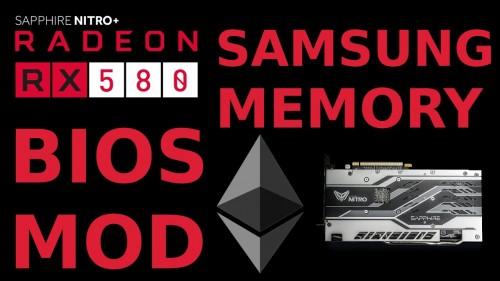 BIOS Mod: Sapphire Nitro+ RX580 8G SAMSUNG for Ethereum AMD Radeon GPU Mining