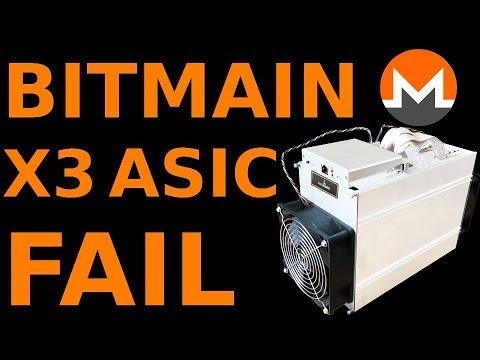 Bitmain X3 FAIL Cryptonight ASIC for Monero XMR = Paperweight / HalongMining Dragonmint X1