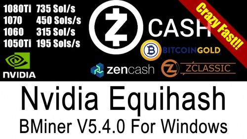 BMiner Fastest ZCash Equihash Miner For Windows. Faster than EWBF & DSTM