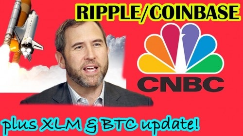 RIPPLE & COINBASE TO APPEAR ON CNBC! BITCOIN MOONING! STELLAR LUMENS XLM BREAKOUT