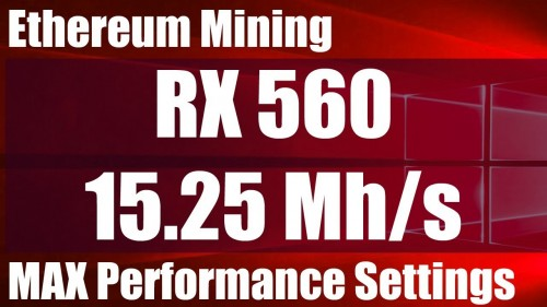 RX560 15.25 Mh/s Mining Ethereum