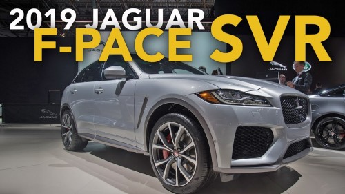 2019 Jaguar F Pace SVR First Look – 2018 New York Auto Show