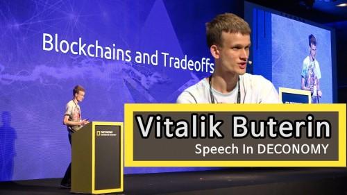 Vitalik Buterin speech in Deconomy 2018