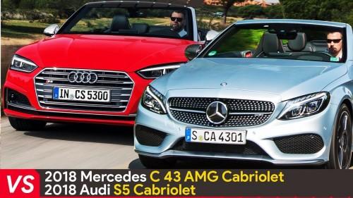 2018 Mercedes C43 AMG Cabriolet Vs Audi S5 Cabriolet