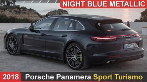 2018 Porsche Panamera Sport Turismo Night Blue Metallic