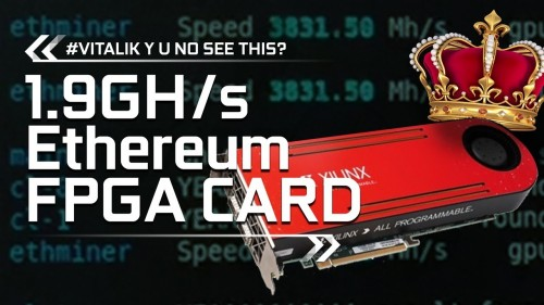 LEAKED 1.9Gh/s Ethereum Mining FPGA Cards Footage